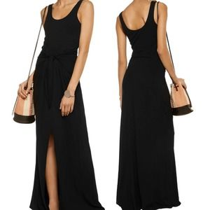 L'AGENCE Melissa Tie-Front Ponte Maxi Dress XS